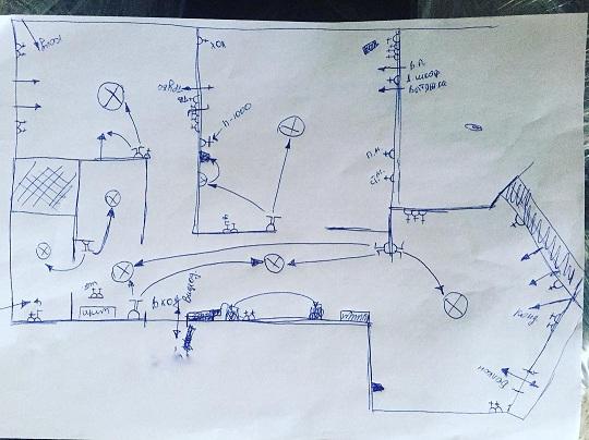Схема разводки электропроводки в квартире