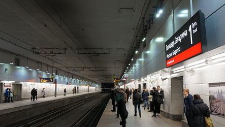 Площадь Гагарина станция метро