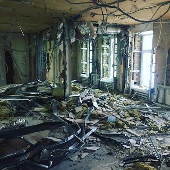 Демонтаж электропроводки около метро Шаболовская
