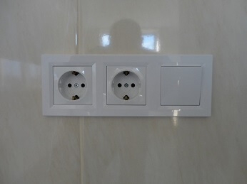 Монтаж внутренней розетки, выключателя около метро Тропарево