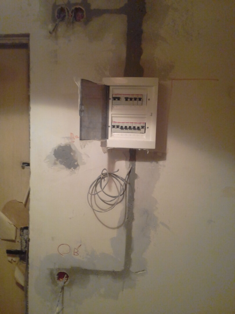 Комплексные электромонтажные работы в двухкомнатной квартире в новостройке по адресу город Москва, улица Твардовского, 19к1
