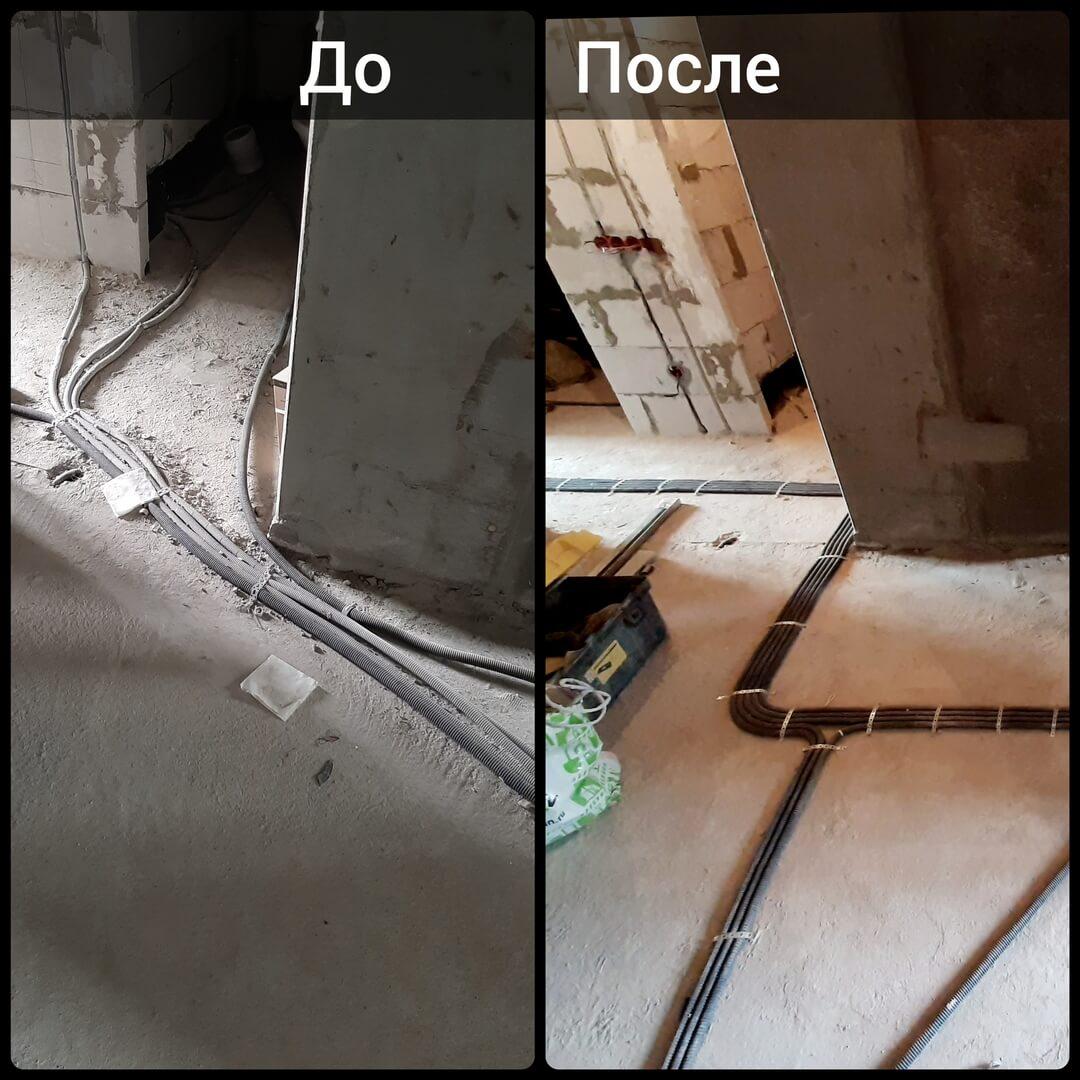 Качественная замена электрики в 1 комнатной квартире в сжатые сроки по адресу город Москва, Московская улица, дом 8 корпус 1