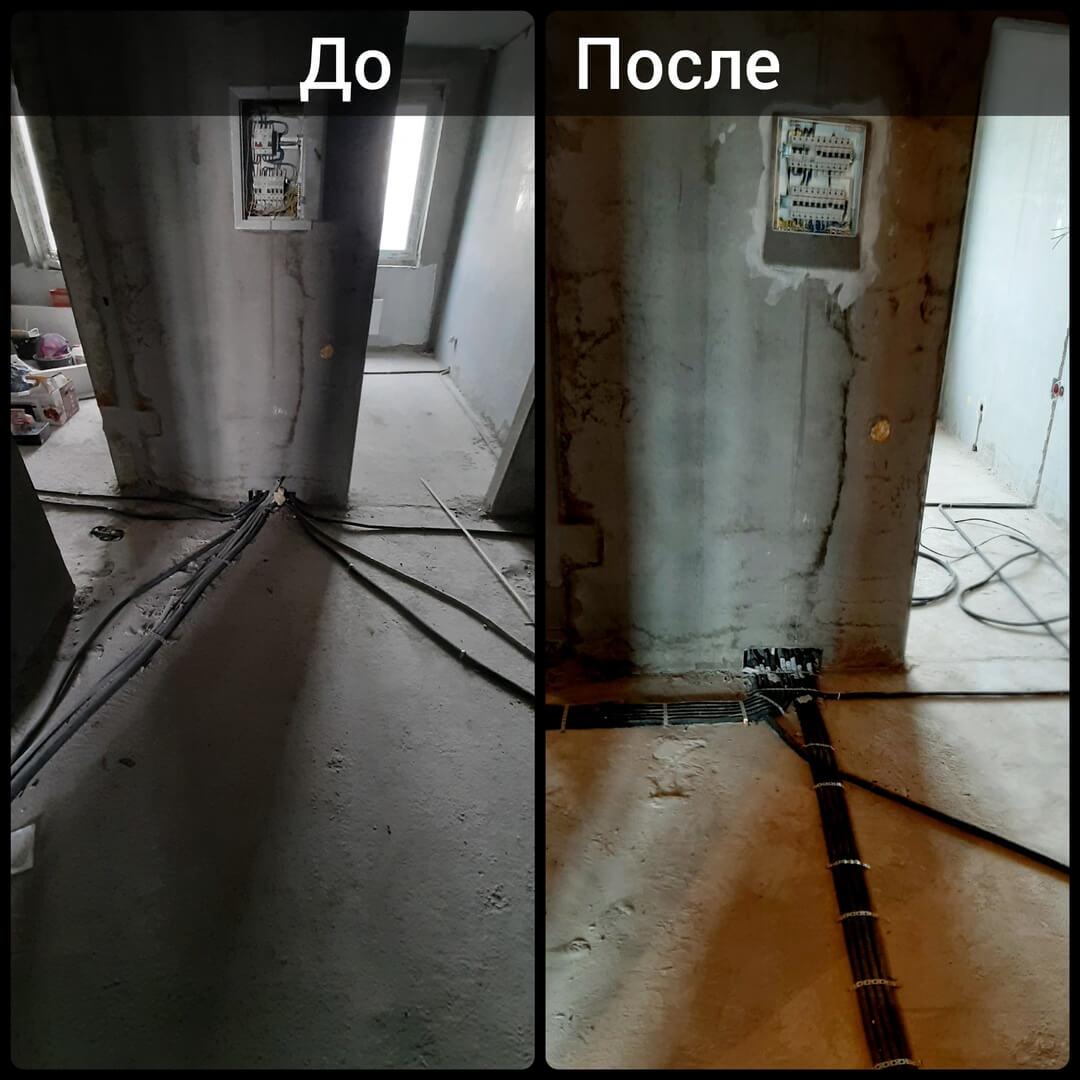 Монтаж электрики в однокомнатной квартире за 3 дня по адресу город Москва, Московская улица, дом 8 корпус 1