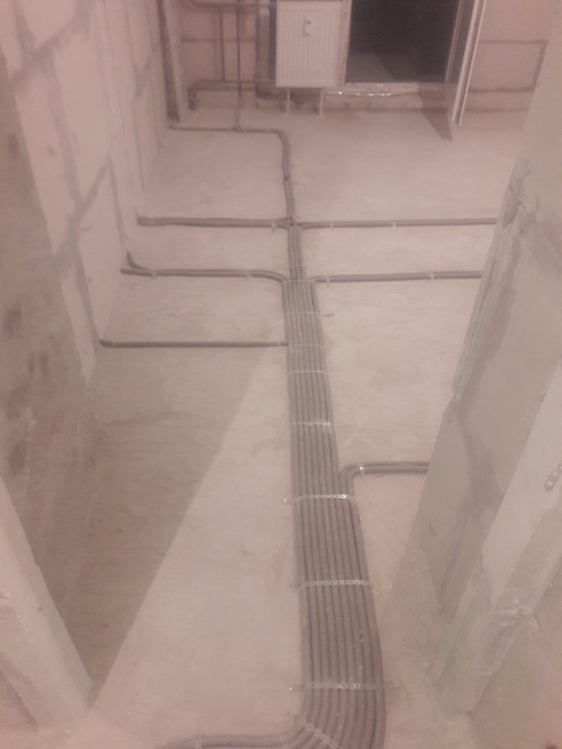 Электромонтажные работы в двухкомнатной квартире в новостройке по адресу город Москва, Лазоревый проезд, 5к4