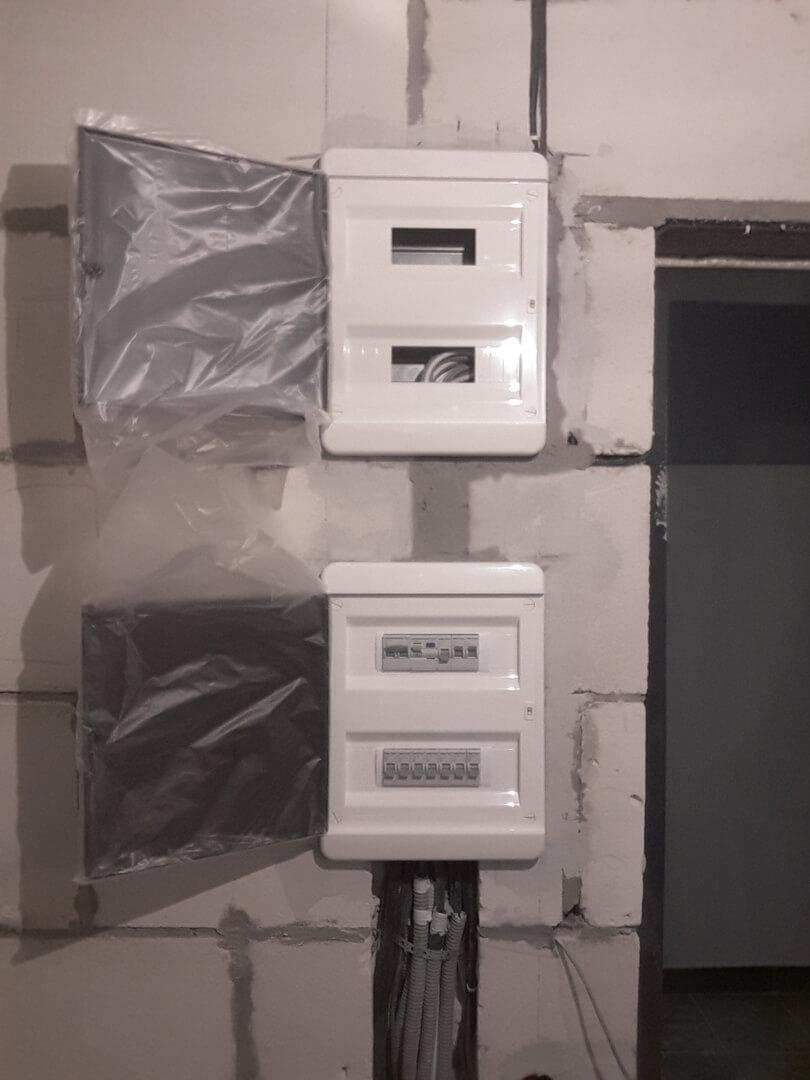 Профессиональные электромонтажные работы в новостройке по адресу город Москва, Лазоревый проезд, 5к4